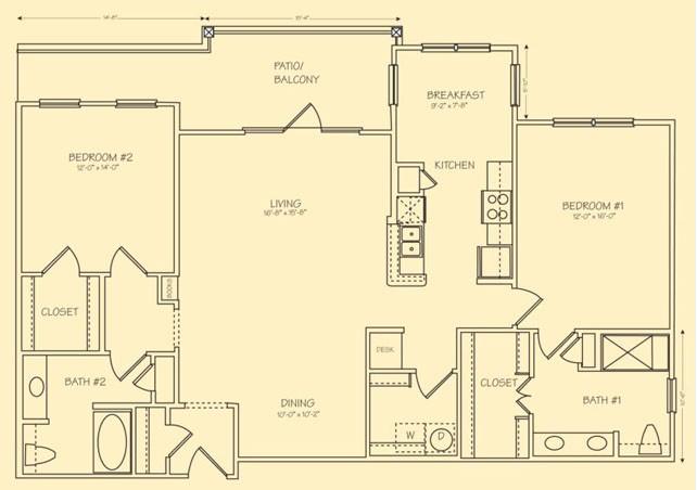 1,465 sq. ft. Venezia floor plan