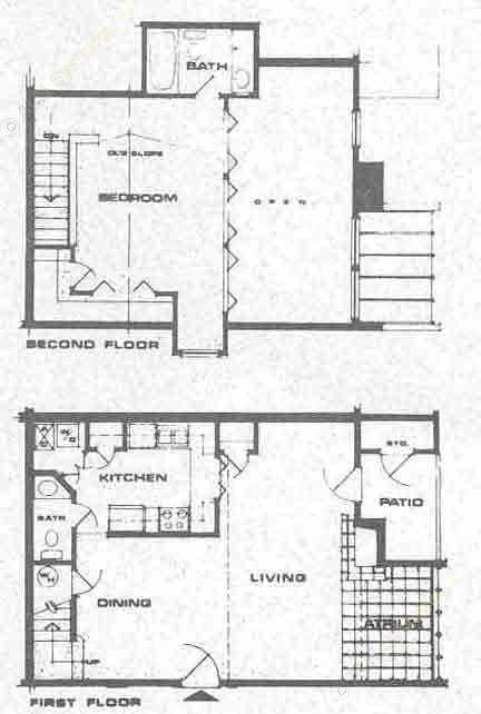 903 sq. ft. B1 floor plan