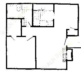 684 sq. ft. Mkt & 60% floor plan