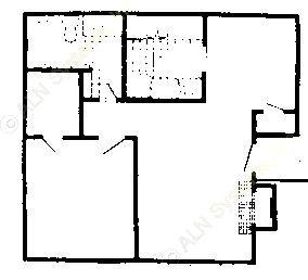 684 sq. ft. 80% floor plan