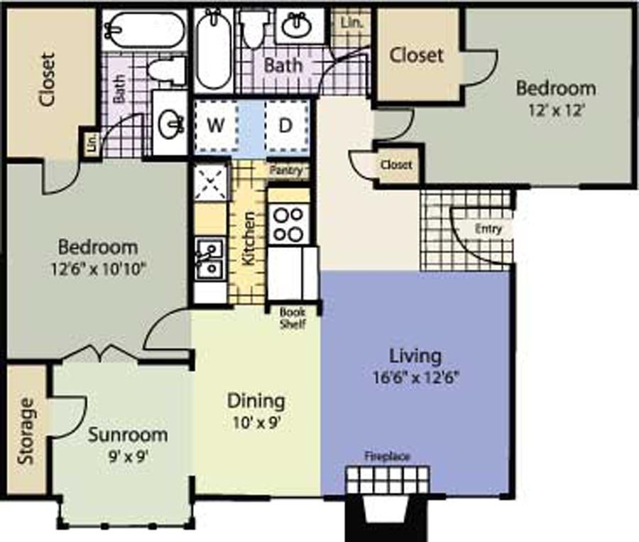 1,088 sq. ft. Silver Maple floor plan