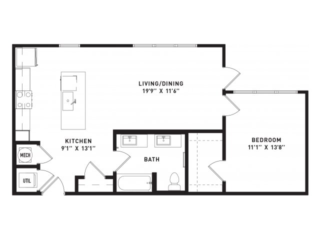 771 sq. ft. A11 floor plan