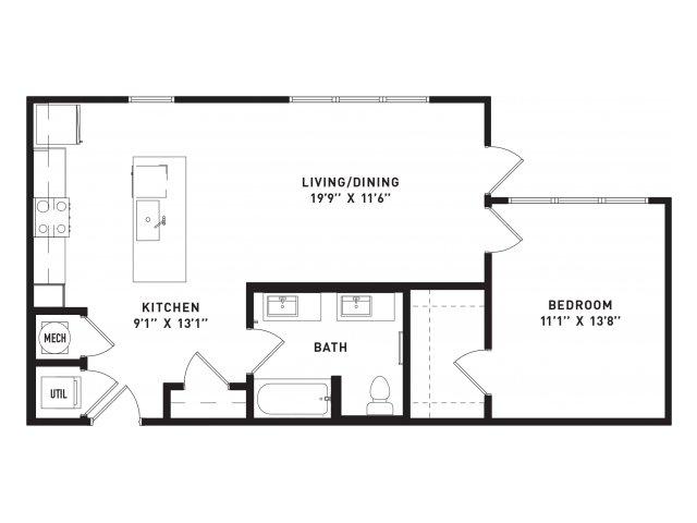 771 sq. ft. A11 floor plan