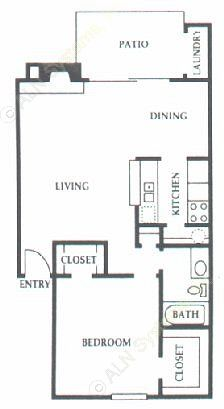 752 sq. ft. D1 floor plan
