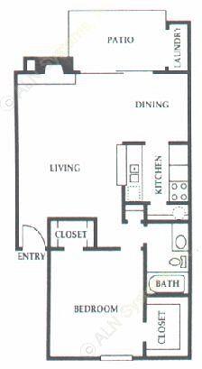 752 sq. ft. D1 floor plan