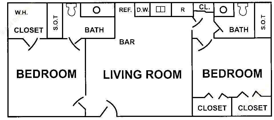 770 sq. ft. floor plan