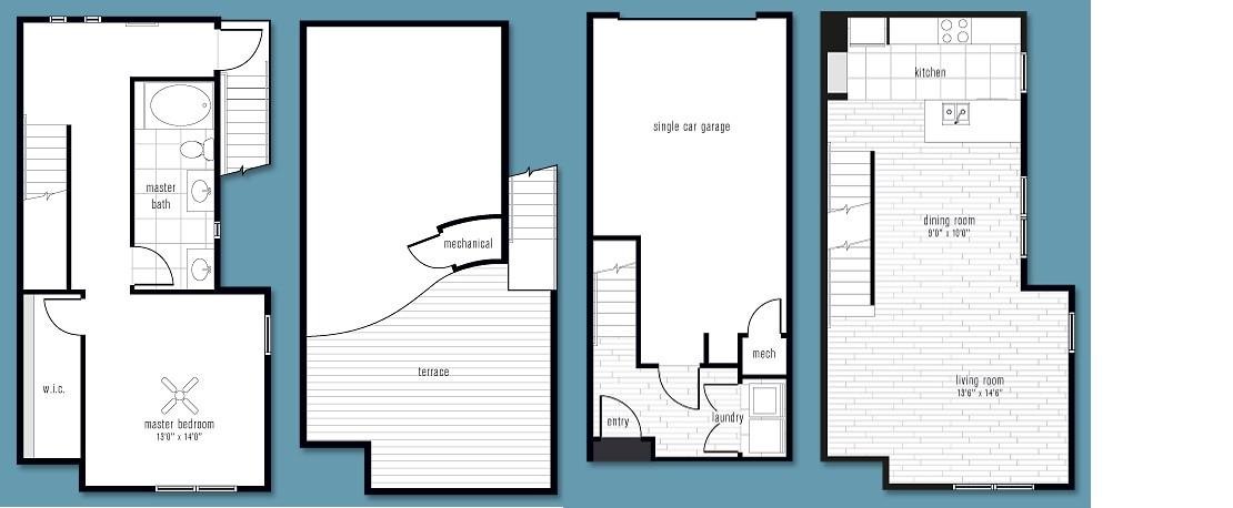 1,224 sq. ft. CC floor plan