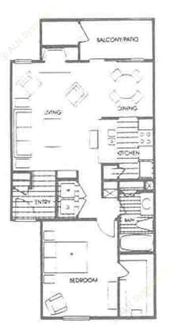 760 sq. ft. A4 floor plan