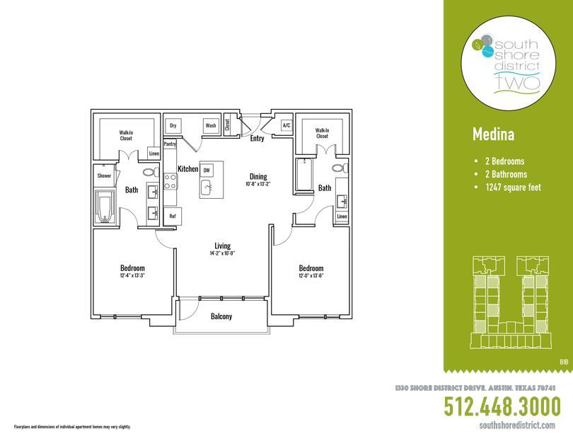 1,247 sq. ft. Medina floor plan