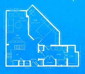 745 sq. ft. A1B floor plan