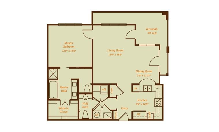 1,370 sq. ft. Montecito floor plan