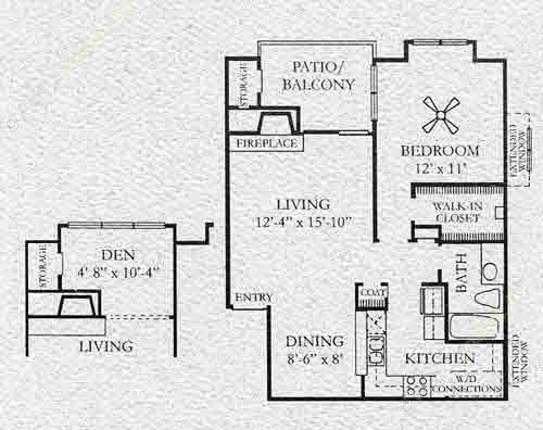 731 sq. ft. Frankford floor plan