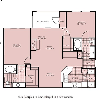 1,089 sq. ft. Madison floor plan