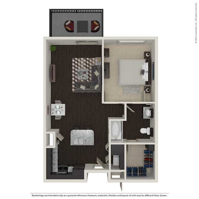 844 sq. ft. A3 ANSI floor plan
