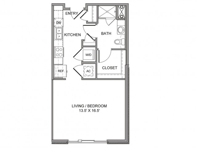 550 sq. ft. Taylor floor plan
