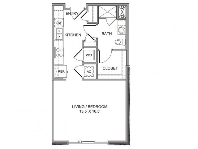 550 sq. ft. Taylor floor plan