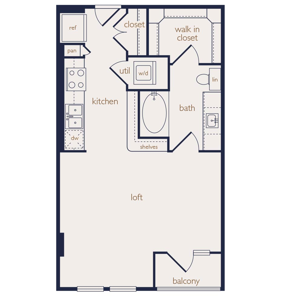 577 sq. ft. floor plan