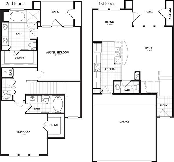 1,382 sq. ft. to 1,390 sq. ft. MATALEE floor plan
