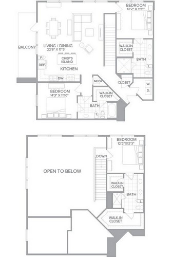 1,860 sq. ft. C1B floor plan
