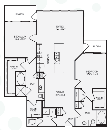 1,403 sq. ft. Thistle/B7 floor plan