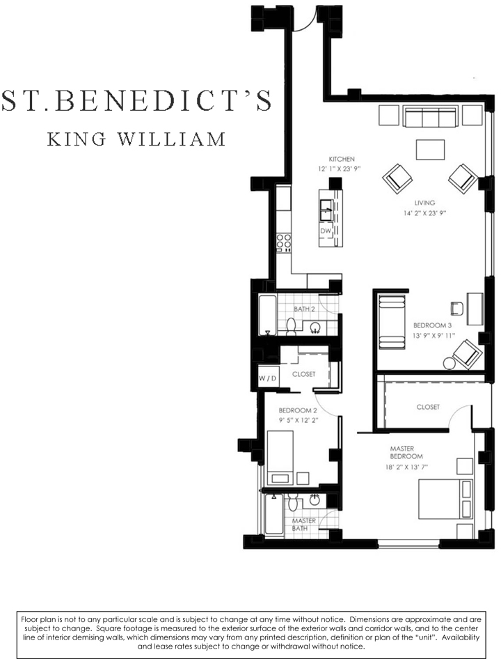 1,698 sq. ft. M floor plan