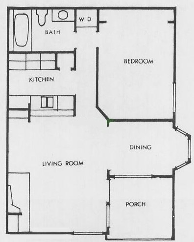 738 sq. ft. J floor plan