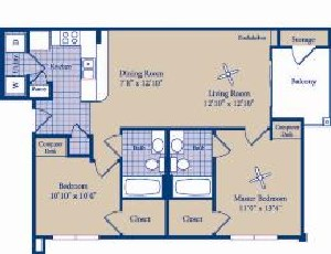 935 sq. ft. Livingston floor plan