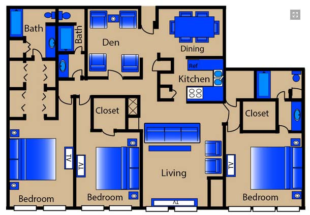2,000 sq. ft. C5/C6 floor plan