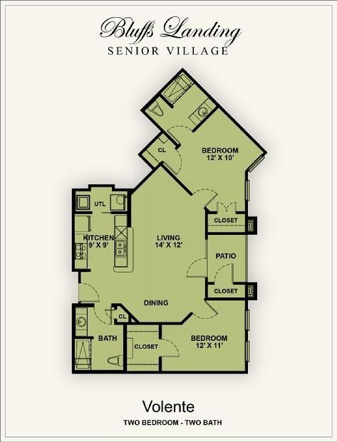 968 sq. ft. 50% floor plan