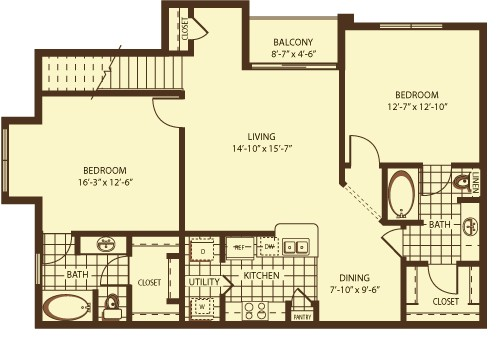 1,236 sq. ft. Grey Mouth floor plan