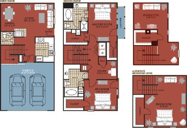 1,851 sq. ft. Valencia floor plan