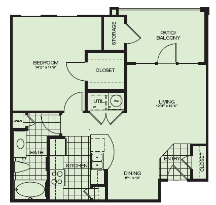 720 sq. ft. Inverness floor plan