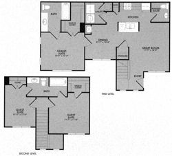 1,168 sq. ft. 60% floor plan