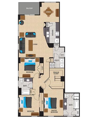 1,842 sq. ft. Crimson floor plan