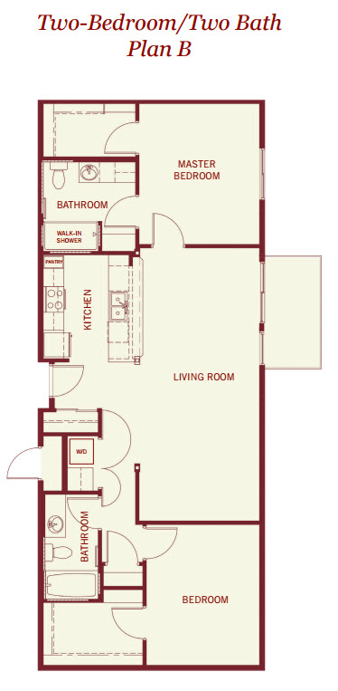 750 sq. ft. floor plan