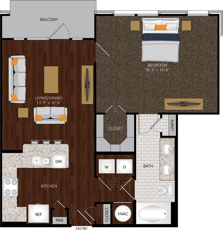 847 sq. ft. A10 floor plan