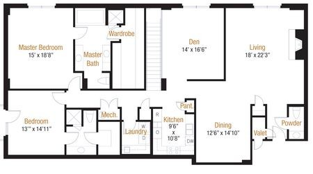2,363 sq. ft. 19 floor plan