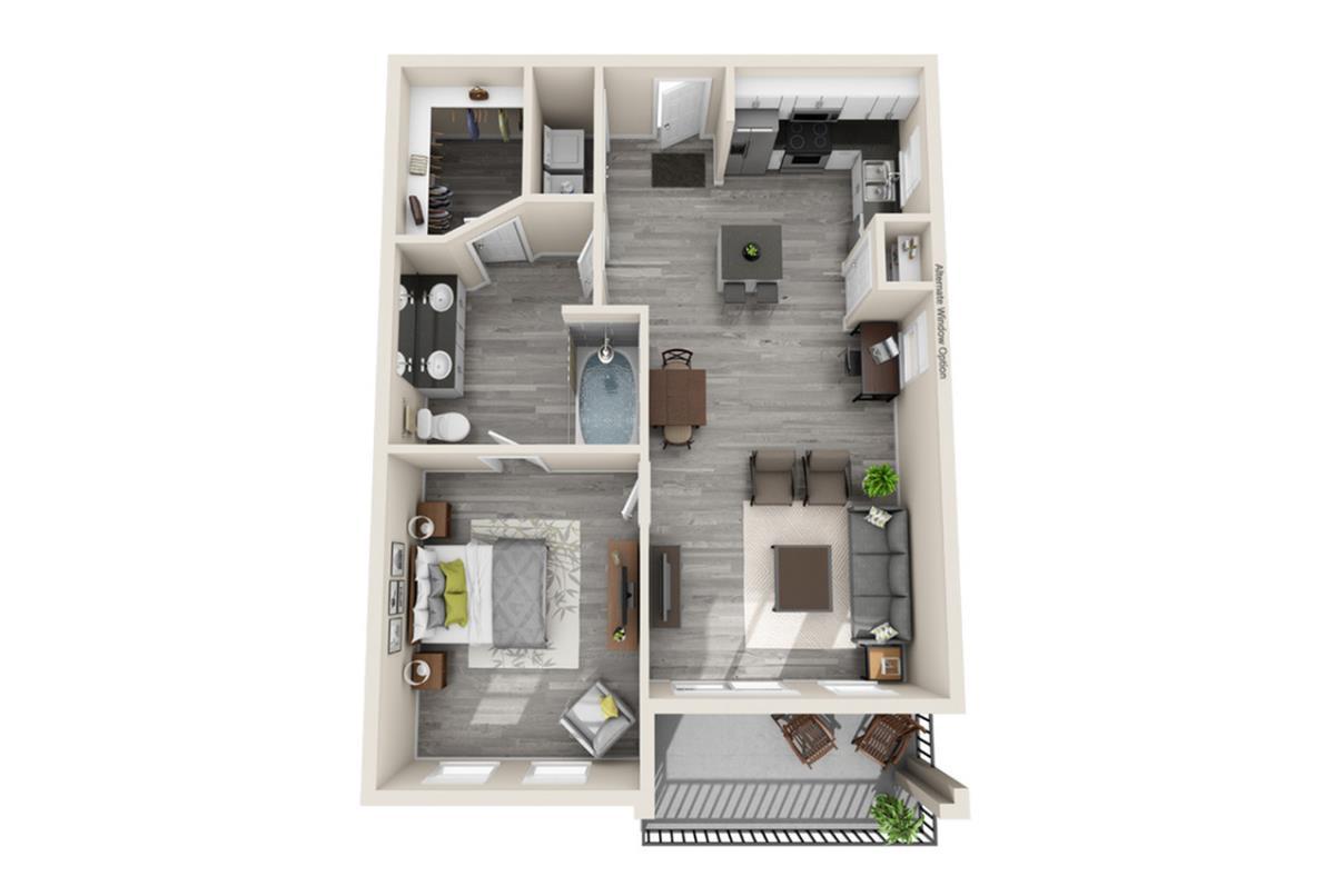 797 sq. ft. Venice floor plan