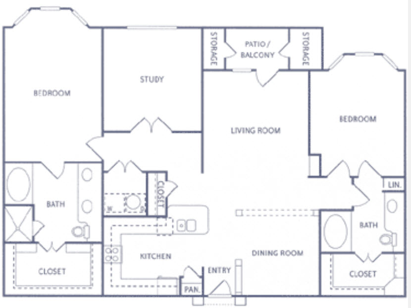 1,602 sq. ft. B3 floor plan