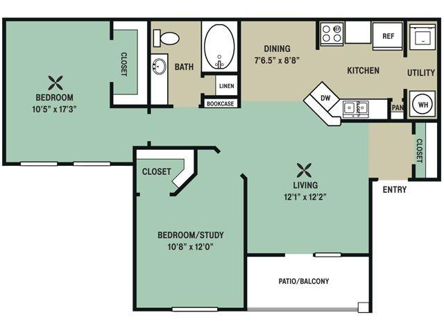 949 sq. ft. Smarty Jones floor plan