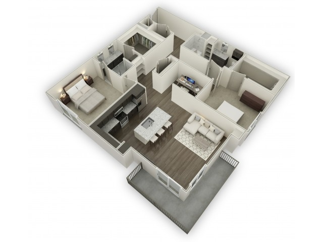 1,359 sq. ft. B7 floor plan