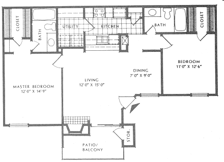 1,006 sq. ft. B2/Grand floor plan