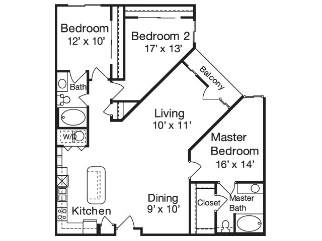 1,449 sq. ft. C2 floor plan