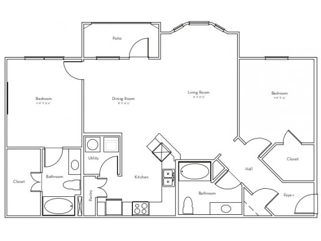 1,226 sq. ft. Geneva floor plan