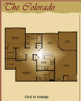 1,000 sq. ft. Guadalupe/Colorado floor plan
