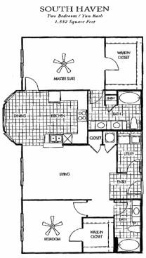 1,332 sq. ft. floor plan