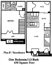 670 sq. ft. F/G floor plan