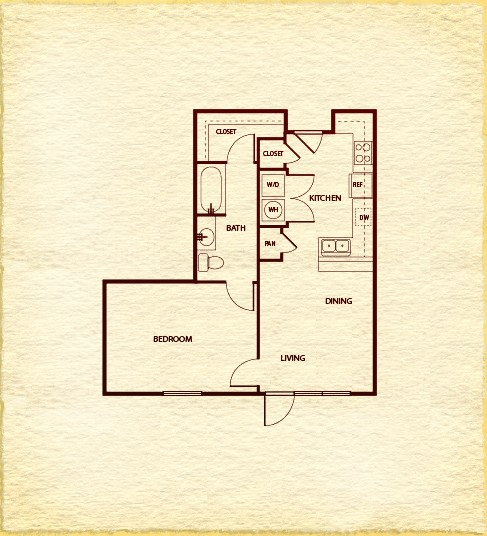 650 sq. ft. A200 floor plan