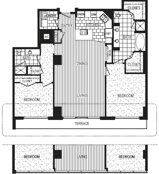 1,659 sq. ft. to 1,673 sq. ft. J floor plan