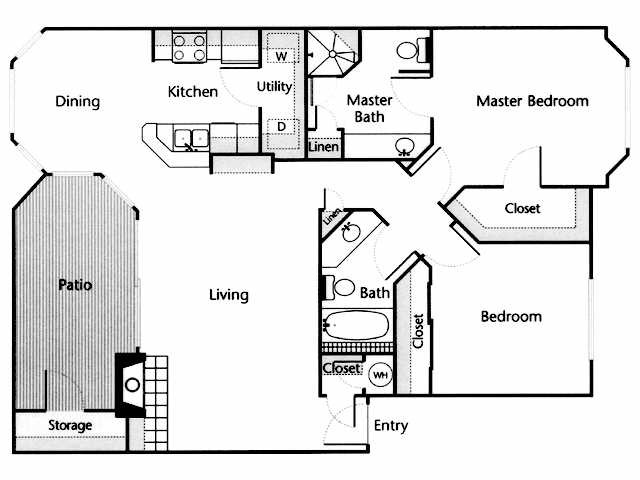 1,129 sq. ft. Medina floor plan